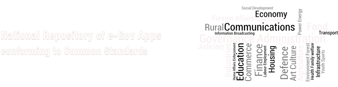 National Repository of e-Gov Apps conforming to Common Standards